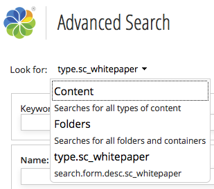 Search by Type