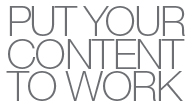 Alfresco Summit Slogan: Put your content to work