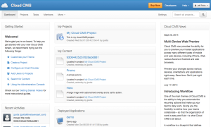Cloud CMS Home Page
