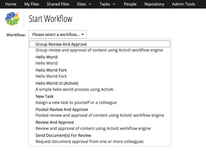 Creating Custom Advanced Workflows in Alfresco | ECM