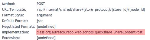 Web Script Implementation Details